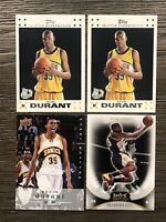 (4) Kevin Durant Rookie Lot - 2007 Topps White NM - MT & 2008 Upper Deck RC