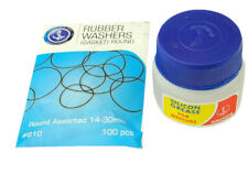 20ml Silicon Grease & Round 14 - 30mm Pack  Washers/Gaskets Waterproofing J1311