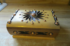 hand crafted by artist Verdun signed,wooden holds 30 cigarette box tier liftopen