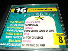 "CD ""16 SUCCES ETERNELS - VOL. 8"" France Loisirs / Rika ZARAI Romuald D. GERARD"