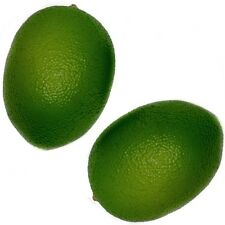 2 Artificial Limes - Decorative Fake/Plastic/Ornamental Fruit - Lime