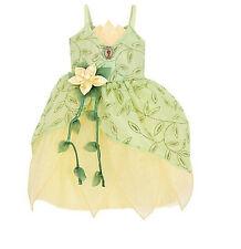 NWT! DISNEY WORLD Princess Frog TIANA Fancy Dress COSTUME 7/8