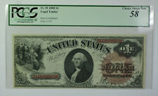 1880 $1 Dollar Legal Tender Currency Note Fr. 30 PCGS 58