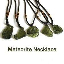 Natural Crystal Green Gem Moldavite Meteorite Glass Necklace Pendant Stone Decor