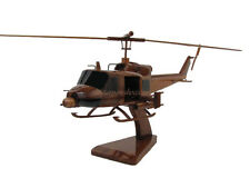 Bell UH-1C Huey Hog Gunship Iroquois Helicopter Wooden Mahogany Wood Model New