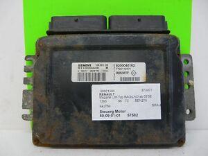 Motorsteuergerät SIEMENS S110030048 B 8200046162 Renault Megane I 1.4 16V 95Ps