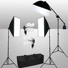 AU Photography Studio Softbox Continuous Lighting Soft Box Light Boom Stand Kit