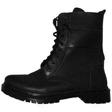 Military Army Autumn Spring Leather Boots. Russian Ukrainian Uniform US 10 EU 43