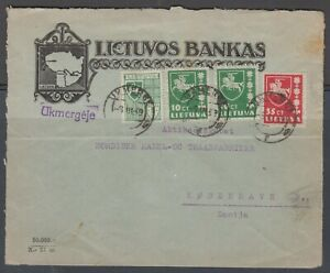 Lithuania 1939. Commercial cover to Denmark.