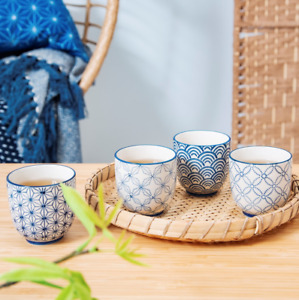 Sass & Belle - Sashiko Pattern Cups Assorted Japanese Style Picked at random