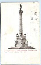 *1906 Civil War Iowa Soldiers Sailors Monument Des Moines UDB Postcard B42