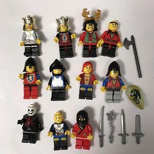 LEGO 8 MINIFIGS CASTLE LION KNIGHT KINGDOMS KING QUEEN MEN WEAPONS MORE