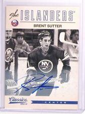 2012-13 Classic Signatures Brent Sutter Autograph Auto #179 *50858
