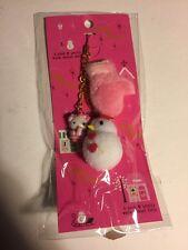 Rare Sanrio Original Hello Kitty 2009 Snow Man Snowman Winter Charm Cell Zipper