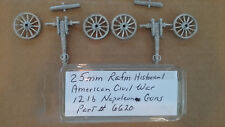 25mm Rafm American Civil War 12lb Napoleon Guns