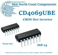 CD4069UBE CD4069BE 4069UBE Six CMOS Inverter Circuits DIP-14 Texas Instruments