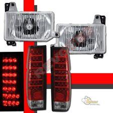 Headlights & LED Tail lights For 88-89 Nissan D21 Hardbody Pickup RH & LH
