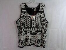 Anne Klein Women's Black White Sleeveless Geometric Sweater Size 3X NWT