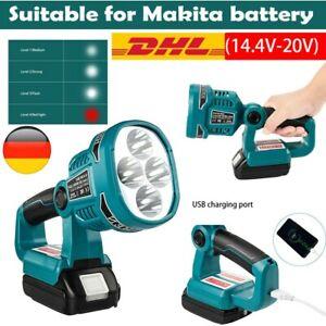 LED Arbeitslicht Handscheinwerfer Workleuchte Taschenlampe für Makita 18V DML812