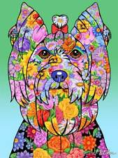 Flowers Garden Flag - Yorkshire Terrier Yorkie 960101