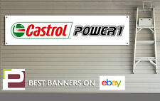 Castrol Power 1 Aceite Taller Garaje Banner, Pit Lane, Moto, Motorsport