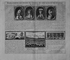 Antique map, Habillemens des femmes de Smyrne des Greques