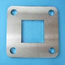 Edelstahl Ankerplatte 95x95 innen 40x40 Vierkant Rohr