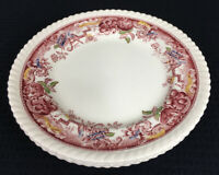 "Johnson Brothers Devonshire Set Of 3 Red Multi 8"" Salad Plates EDGE CHIPS UK"