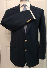 Hickey Freeman Bespoke Vintage Jade Green Flannel Wool Sport Coat Blazer 46L