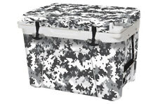 Thickest Wrap 24mil Skin Full for YETI Tundra 35qt Cooler White Digi Camo
