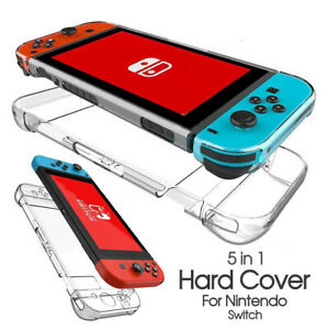 For Nintendo Switch Hard Case Cover Transparent Clear Shockproof Protective