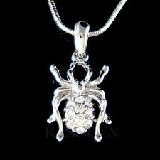 w Swarovski Crystal Black Widow Spider Halloween Toxic Sexy Necklace NEW Jewelry
