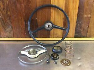 Alfa Romeo Giulia Giulietta Spider • Original Steering Wheel & Horn Cap.  AR3323