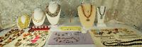 Sterling/Costume Jewelry LOT 86pc AUSTRIA CZECH TRIFARI RELIOS SILPADA VTG-NOS