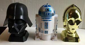 Star Wars Episode III Cookie Jar Set - Darth Vader R2-D2 C-3PO - 2005 Kelloggs -