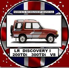 LAND ROVER DISCOVERY 1  1995-2000 200Tdi 300TDi V8 WORKSHOP REPAIR MANUAL
