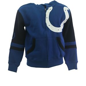 Indianapolis Colts Official NFL Children's Youth & Kids Size Full Zip Sweatshirt