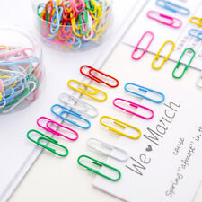 Durable Metal 50pcs Paperclips Bookmarks File Paper Clips Stationery Supplies