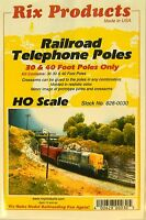 NIB HO Rix Products 0030 30 & 40 Ft Telephone Poles 36 Pc Kit