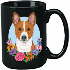 Basenji Ceramic 15oz Black Ace Coffee Mug