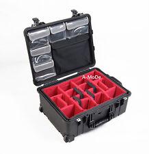 "Padded Divider Lid Organizer 13""laptop computer Set fits peli1569 1560 nocase"