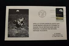 SPACE COVER 1969 MACHINE CANCEL APOLLO 12 LIFT OFF THE MOON SARZIN (2727)