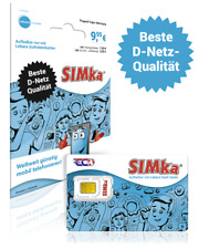 Mobilka / Simka Sim Karte Prepaid 9,95 Euro Guthaben D Netz ab 1 Cent/Min Europa