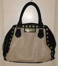 Betsey Johnson Handbag Creamy White & Black With Gold tone Rose Studs