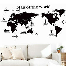 World Map Removable PVC Vinyl Art Room Wall Sticker Decal Mural Home Decor AU~