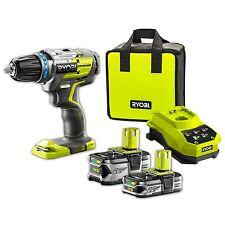 Ryobi 18v ONE+ Brushless Hammer Drill Kit  5.0Ah & 2.5Ah 18V Batteries &Charger