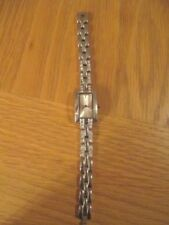 Ladies stainless steel watch with diamante bracelet