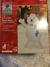 6.5 FT POLAR BEAR AIRBLOWN INFLATABLE CHRISTMAS LED LIGHTS NEW IN BOX GEMMY