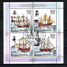 Bateaux Guinée Bissau (94) série complète de 4 timbres oblitérés