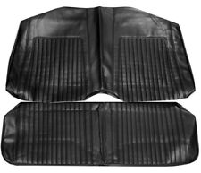 67-68 Camaro Standard Rear Seat Upholstery Covers Black Coupe PUI New